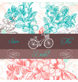 floral background with engraved flowers for design vector image vector image