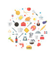 food and kitchen items icons - collection vector image