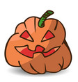funny cartoon halloween pumpkin vector image vector image