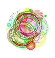 geometric circle background circle vector image vector image