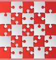 grey puzzle pieces red - jigsaw field chess vector image vector image