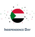 independence day of sudan patriotic banner vector image vector image