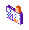 industry factory metallurgical isometric icon vector image vector image
