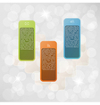 infographic with fragments vector image vector image