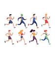 jogging people people outdoor activity vector image