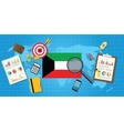kuwait middle east economy economic condition vector image vector image