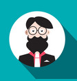 man avatar flat design social media hipster user vector image vector image