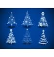 Modern Christmas trees vector image vector image