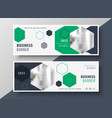 modern geometric business banners set template vector image vector image