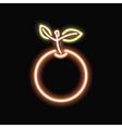 Neon orange silhouette icon vector image
