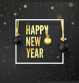 new year celebration year greeting card vector image vector image