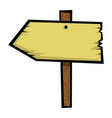 old wooden sign icon vector image vector image