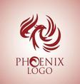 phoenix logo 6 vector image vector image