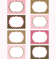 Pink and Brown Printable Labels Tags Photo Frame vector image vector image