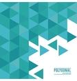 Polygonal design Geometric shape design vector image vector image