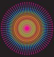 rainbow gradient vintage round pattern on dark vector image