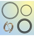 round chains set frames vector image vector image