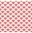 Seamless hearts pattern retro texture red and pink vector image vector image