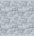 seamless pattern gray stone wall vector image