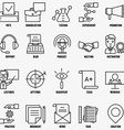 set linear business education icons - part 2 vector image vector image