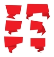 set red paper banners vector image