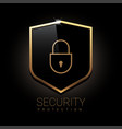 shield icon protection symbol vector image vector image