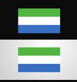 sierra leone flag banner design vector image vector image