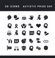 simple icons autistic pride day vector image vector image