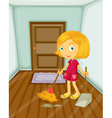 Sweeping vector image vector image