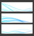 swoosh blue power energy futuristic header vector image vector image