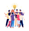 team brainstorming success managers vector image vector image