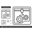 Three D printing line icon vector image vector image