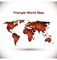 Triangle World Map in red vector image vector image