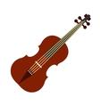 Violin flat icon vector image vector image
