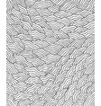 wavy waves pattern - coloring page for adults vector image