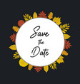 wedding save the date invitation with black vector image vector image