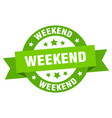 Weekend ribbon weekend round green sign weekend
