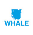 whale logo vector image