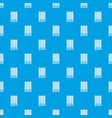 window with wooden jalousie pattern seamless blue vector image vector image
