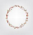 wreath made willow twigs willow twigs round vector image