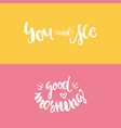 you and me poster vector image