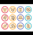 zodiacal icons set vector image