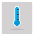 flat icon thermometer vector image
