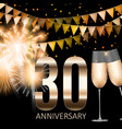 30 anniversary emblem template design background vector image