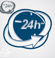 3d 24 hours clock includes additional versi vector image vector image
