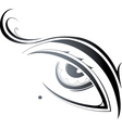 artistic eye vector image vector image