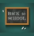 back to school on the chalkboard vector image vector image