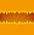 background with a fiery flame vector image vector image