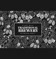 beer hop design template retro beer background vector image vector image