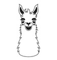 black and white with smiley face llama vector image